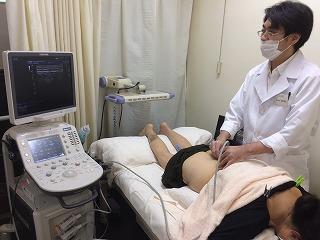 腰部エコー鍼灸